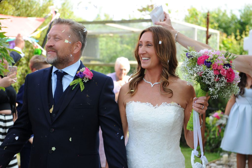 Intimate wedding film of Della and Joe at Lower Barns, Cornwall on their special, sunny day