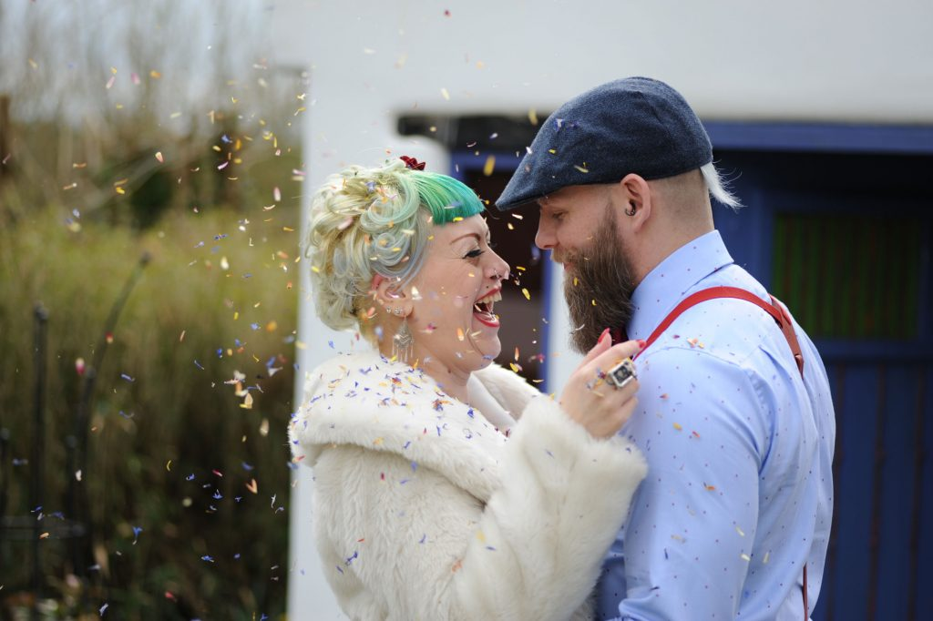 """Beautiful review: """"our magical wedding"""" big smiles all round"""