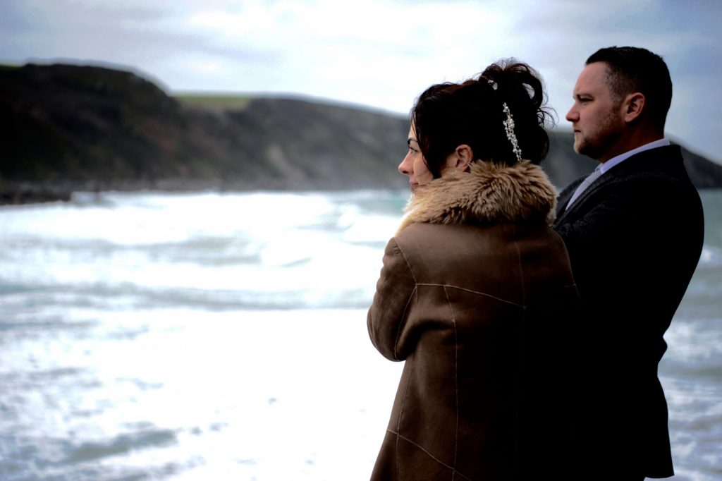 Winter wedding in Cornwall at Lower Barns from £799