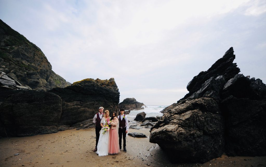 Real Weddings: Tony & Anna Elope to Cornwall with the children