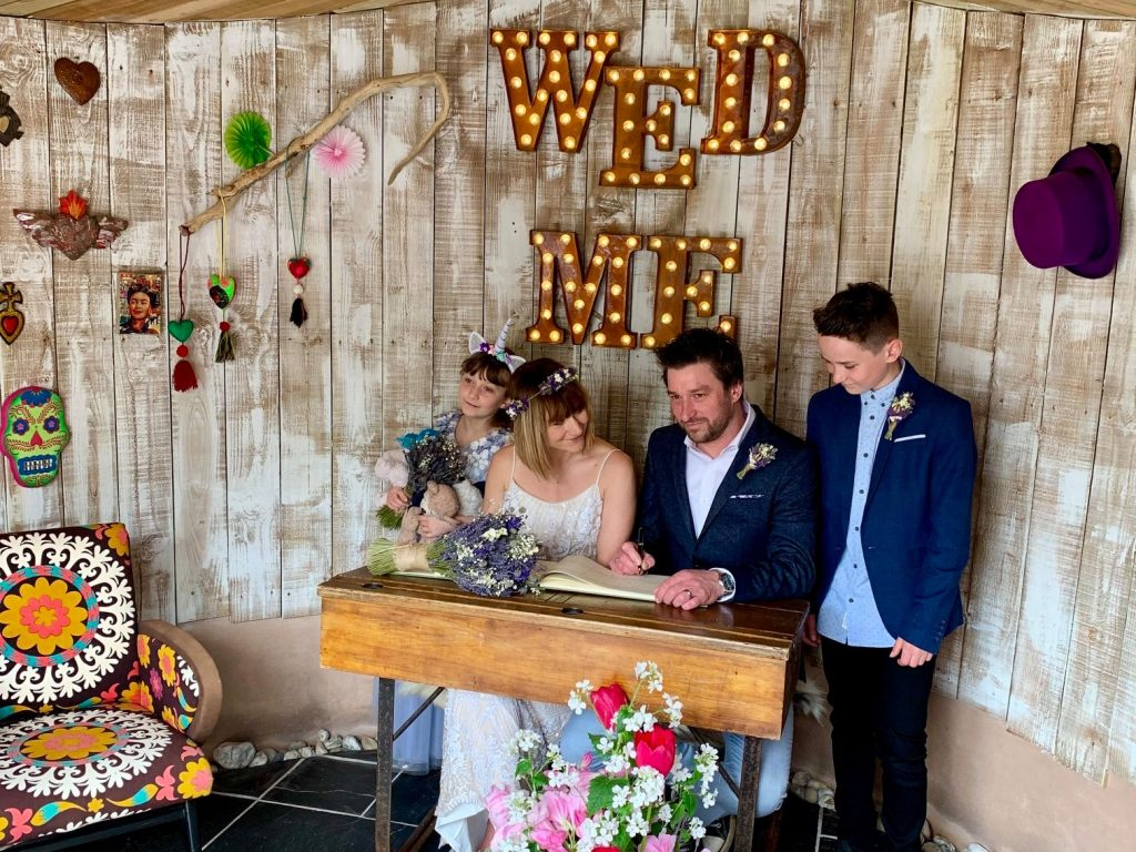 Real Weddings: Ivan & Sarah Elope to Lower Barns with the children