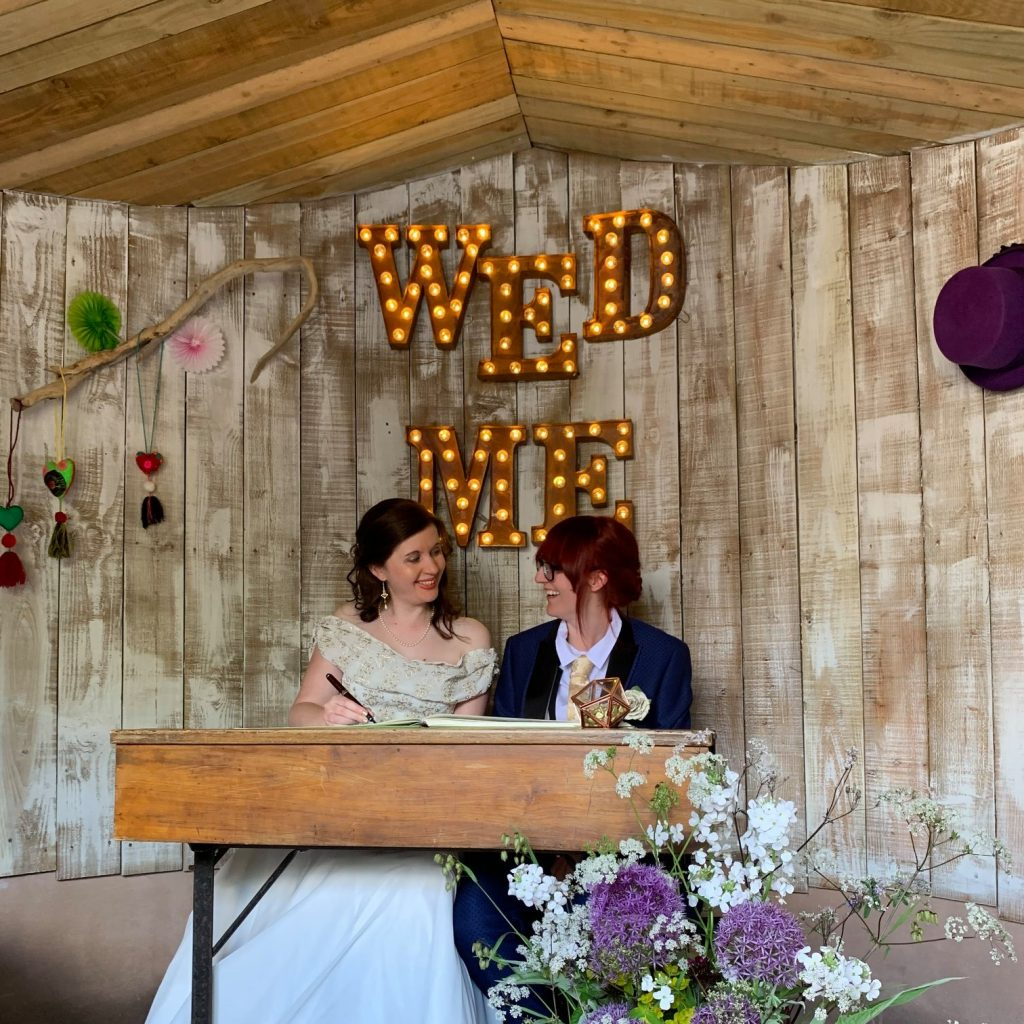 Real Weddings: Tash and Rachel Didn't Want to Leave…